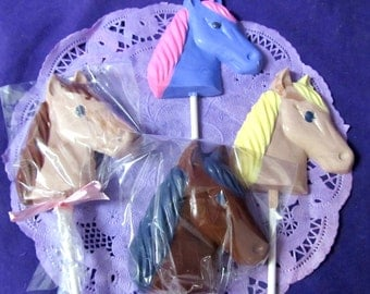 Horses Head chocolate lollipops