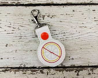Citrus Allergy Keychain
