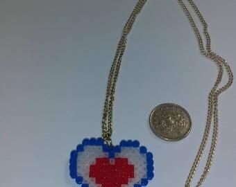 Legend of Zelda Heart Container Hama Bead Necklace