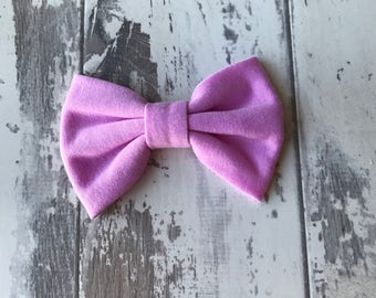 Lilac cotton bow, hair bow, bow, hair accessory, Gingham, bows, headbands, baby headbands,
