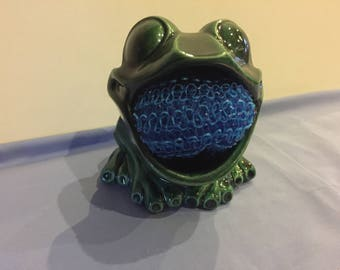 Ceramic Frog Scrub holder
