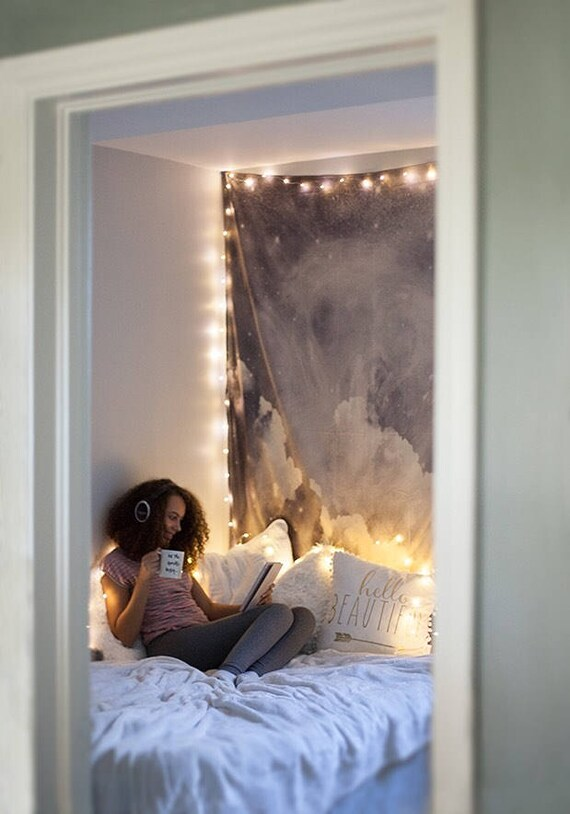 Hanging Lights Bedroom Part - 36: Fairy Light Bedroom, Bedroom Decor, String Light, Dorm Decor, Hanging Light,  Indoor String Lights For Dorm, Gift Under 25, Plug U0026 Battery