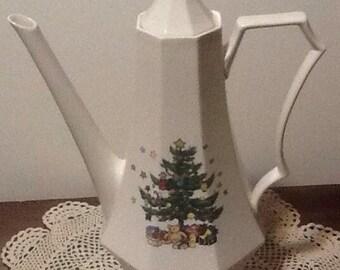 Vintage, Nikko Japan, Christmastime, Coffee pot