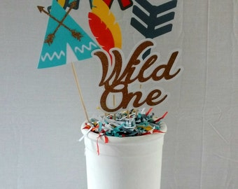 Wild One Tridal Birthday Centerpiece - boy - boho party supplies - party decor - table decorations