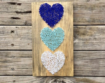 Heart String Art, String Art Heart, Heart Gifts, Rustic Heart Sign, Wood Gallery Wall, Farmhouse Heart Sign, Unique Heart Sign