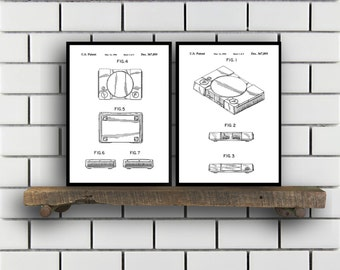 Sony Playstation Patents Set of 2 Prints, Playstation Trucks, Playstation Ramp, Playstation Blueprints, Playstation Art, Playstation