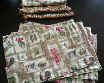 Farmhouse Chickens Table Setting