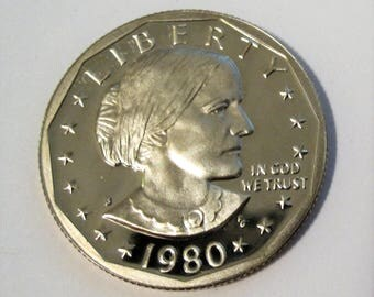 1980-S Proof Susan B Anthony Dollar