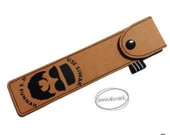Miswakholder, Siwakholder, Miswak, Siwak, natural tooth brush holder, Siwakcase, Miswakcase, vegan leather, vegan, toothbrush, toothcare