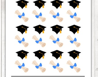Graduation Stickers, Graduation Planner Stickers – Will fit any planner– 1516