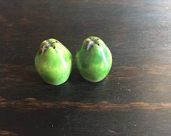 Tiny pear shsped salt and pepper shakers - Handmade