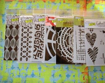6x6 crafters workshop stencils assorted