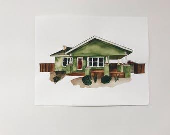 Custom Home Watercolor