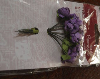 Purple Paper Posy