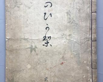 "1899, Japanese vintage original woodblock print book, Ueno Seiko, ""Miyako no Hikari #2"""