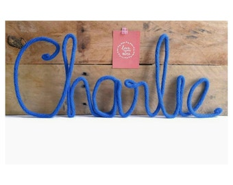 Nursery Name Sign, Baby Name Art, Boy Nursery Art, Baby Name Nursery Decor, Baby Name Sign, Wire Word Art, Baby Room Wall Decor