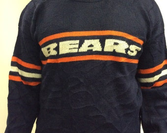 80s Authentic Chicago Bears Vintage Knit Sweater