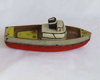 Antique wooden toy ship, ship model, boat model, vintage toy, vintage toy ship, antique boat model, antique toy, vintage wooden toy