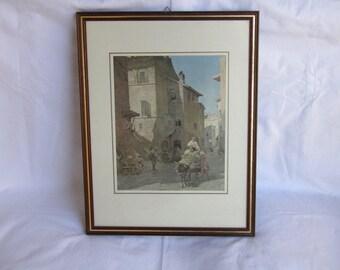 European framed Art print - vintage art print - antique art print - painting art print - art prints - framed art print - framed art