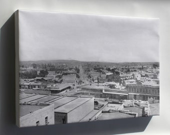 Canvas 24x36; Los Angeles Street And Aliso Street From Baker Block Looking East, Downtown Los Angeles, 1885 (1859)  #031215