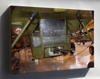 Canvas 24x36; Machine Gun In Gondola Of Mil Mi-4 Helicopter (Hr-1)