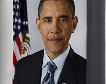 Canvas 24x36; President Barack Obama P2