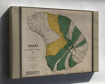 Canvas 16x24; Map Of Lanai Hawaii 1897