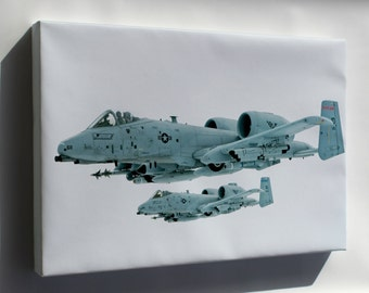 Canvas 16x24; A 10 Thunderbolt In Flight