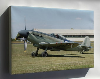 Canvas 16x24; Supermarine Seafire, Naval Version Of Spitfire
