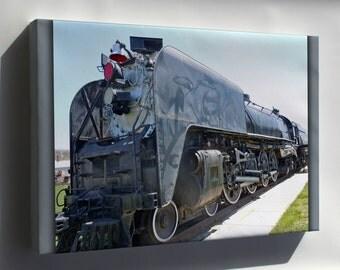 Canvas 16x24; Union Pacific Railroad Locomotive Train 814