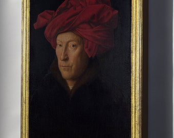 Canvas 16x24; Portrait Of A Man In A Turban, Oil Painting By Jan Van Eyck (1433)