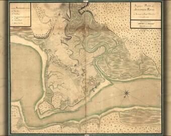 16x24 Poster; Map Of Annapolis Royal Nova Scotia 1753
