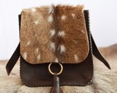 Roscoe Cross-body Purse in Axis and Horween Essex - Hand-Stitched in the USA  by Beargrass Leather -- FREE Shipping in USA