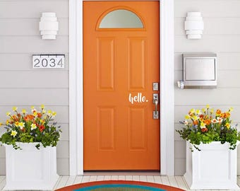"Front Door ""hello"" Decal"