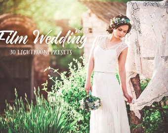 30 Film Wedding Photography Lightroom Presets Volume 1 - Professional Photo Editing for Portraits, Newborns, Weddings