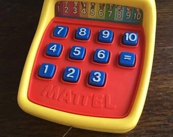 1975 Mattel Tuff Stuff Calculator / Vintage Rate Collectible Preschool Tou