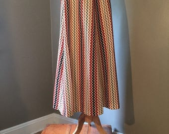 Vintage long maxi skirt/Western/Boho/70S/ONE SIZE
