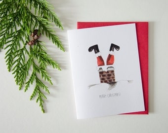 Santa - Christmas/Holiday Greeting Card
