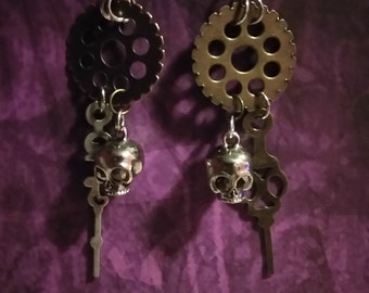 Steampunk skulls of time
