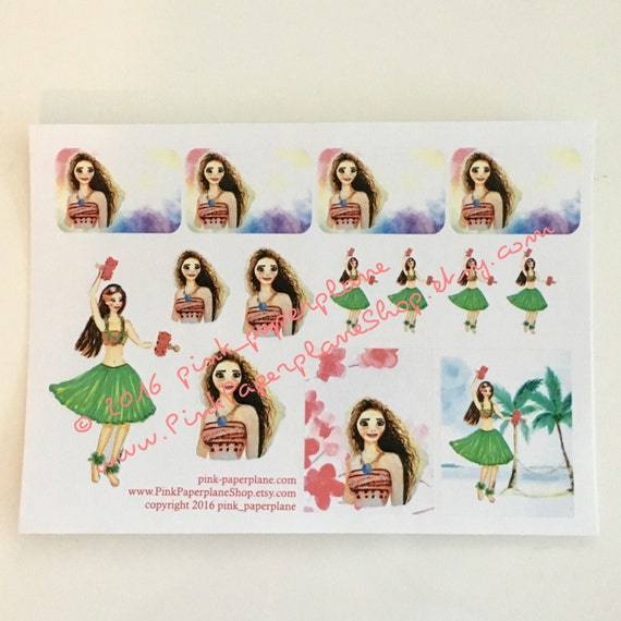 Disney Moana Hawaiian Decal Stickers