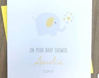 Baby Shower Card - Personalised Baby Shower Card - Handmade Baby Shower Card- Leaving to have a baby card