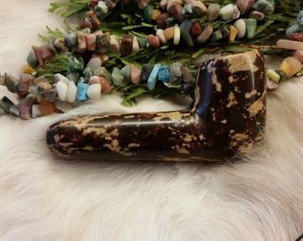 OOAK Gala Coke Alabaster Stone Pipe - Hand Carved and Polished with Beeswax