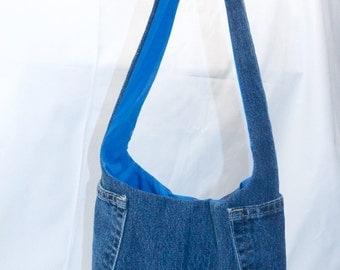 Denim sling bag | Etsy