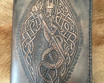 Little book burning dragon leather