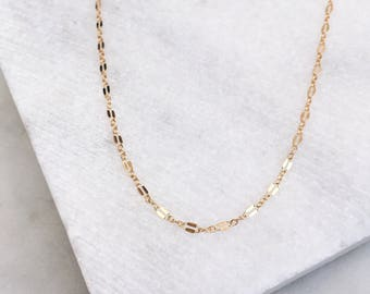 Minimalist Necklace / Gold Chain / Delicate Necklace / Dainty Necklace /14 KT Gold Fill / Layering Necklace / Gold Filled