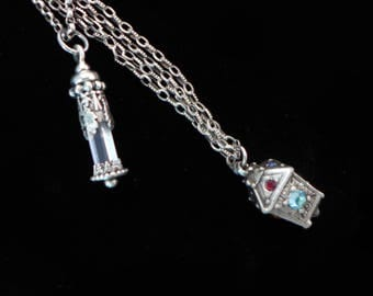 2 Lantern Antique Pendant Charm
