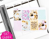 A33B Morning Brew  Decorative Box Life Planner Kit Stickers!!!!  Perfect for the Erin Condren Planner!!!!