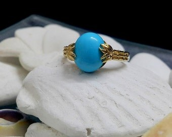 SALE! Cocktail Ring, Turquoise ring,Statement Ring,December birthstone ring,Stack Ring, Birthstone Ring,Gold ring