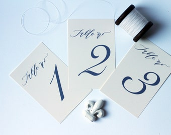 Modern Calligraphy Table Numbers (1-10)
