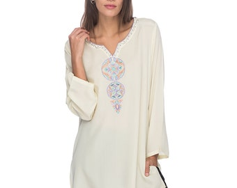 SCT001 - Hand embroidered silk tunic